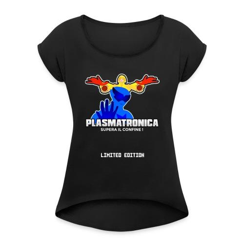 T SHIRT PLASMATRONICA LIMITED INDIEGOGO - Maglietta da donna con risvolti
