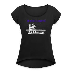 Space Cadets - Frauen T-Shirt mit gerollten Ärmeln