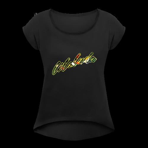 lilo 05 - Frauen T-Shirt mit gerollten Ärmeln
