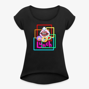 Lunch Tik.Tok tee - Women's T-shirt with rolled up sleeves