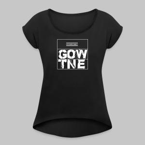 GOWENTGONE logo HP - Frauen T-Shirt mit gerollten Ärmeln