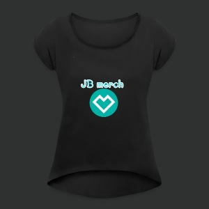 JB spread shirt Merch - Women's T-shirt with rolled up sleeves