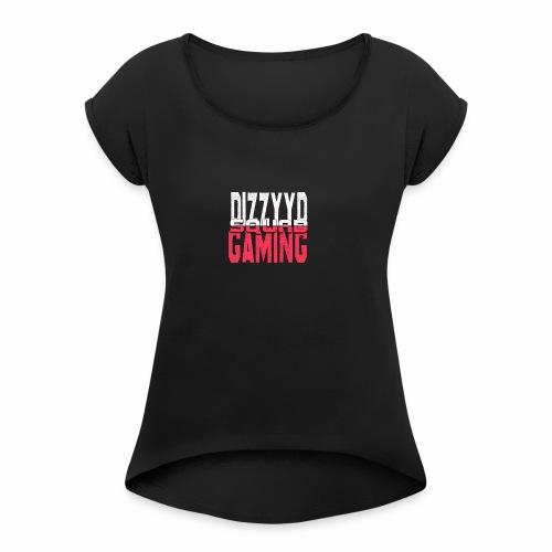 tryck troeja 2 - T-shirt med upprullade ärmar dam