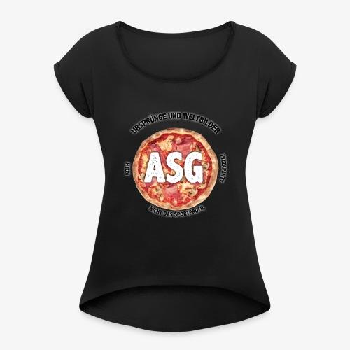 UuW - Pizza - Frauen T-Shirt mit gerollten Ärmeln