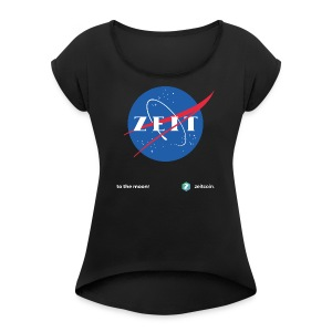 One small step for Zeit - Women's T-shirt with rolled up sleeves