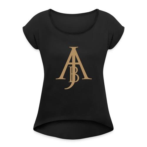 Monogram Guld - T-shirt med upprullade ärmar dam