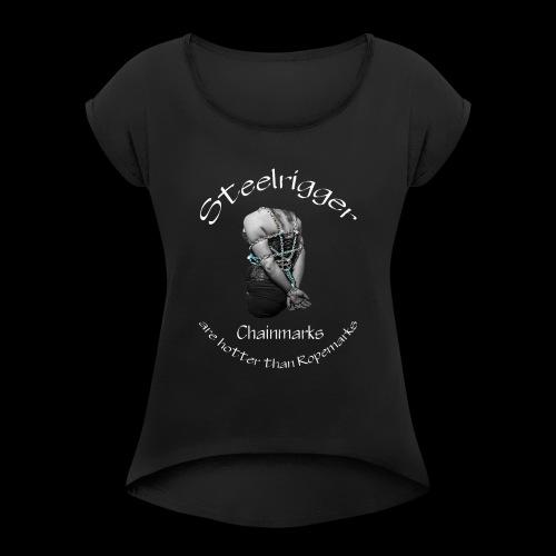 Steelrigger standard - Frauen T-Shirt mit gerollten Ärmeln