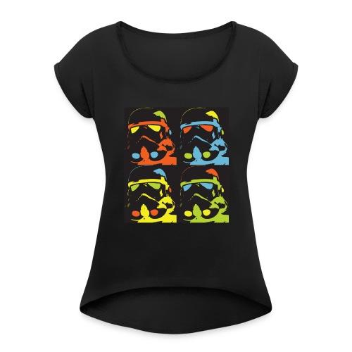 Storm Warhol - T-shirt à manches retroussées Femme