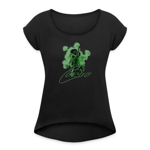 caveira - T-shirt à manches retroussées Femme