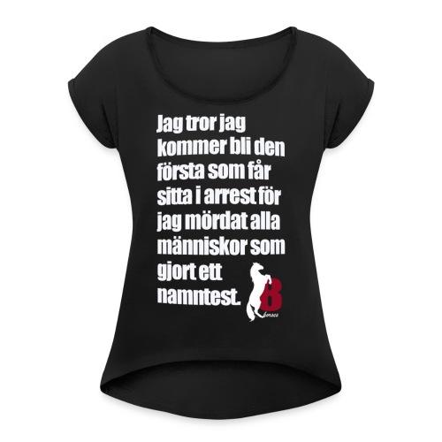 HorseBook line - T-shirt med upprullade ärmar dam