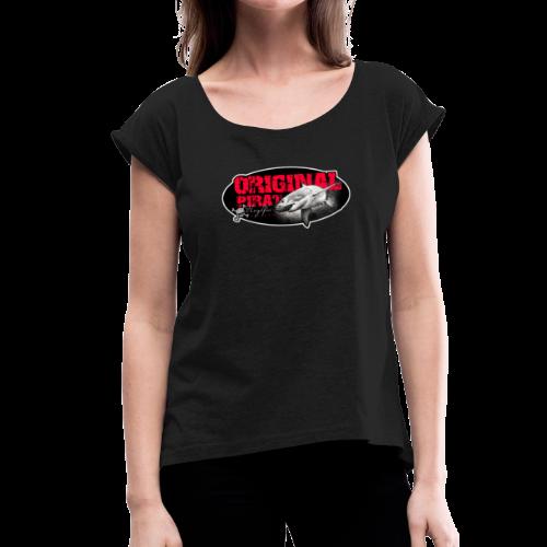 Originalpirat 2018 - Frauen T-Shirt mit gerollten Ärmeln