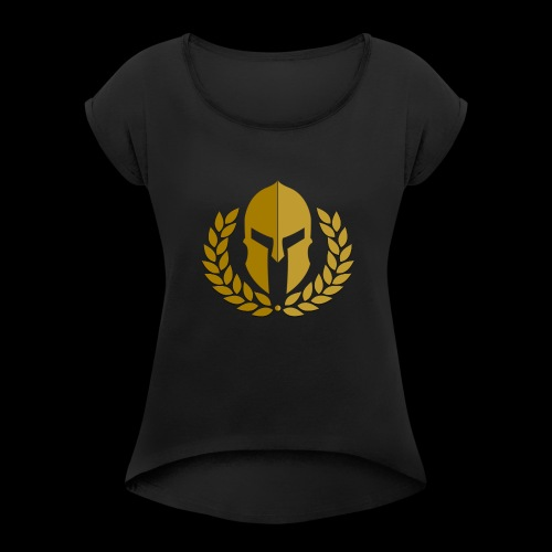 ImperialCS Large Logo - Women's T-Shirt with rolled up sleeves