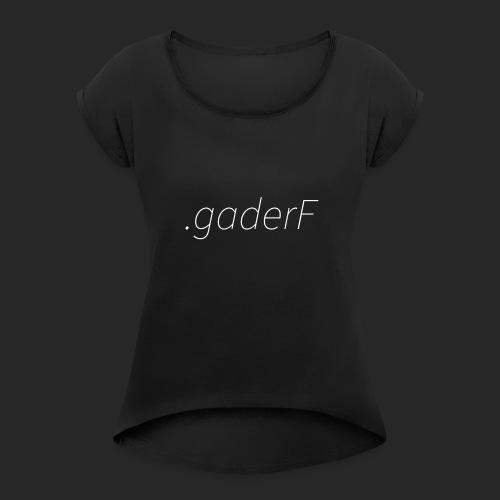 .gaderF - T-shirt med upprullade ärmar dam