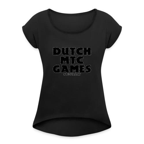 DutchMTCgames Merchandise - Vrouwen T-shirt met opgerolde mouwen