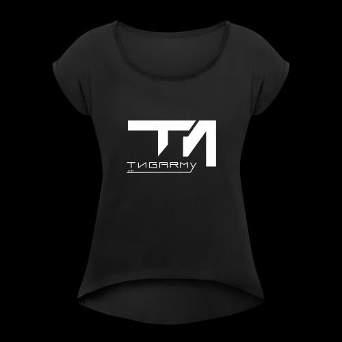 TNG NEW WITHE - Frauen T-Shirt mit gerollten Ärmeln