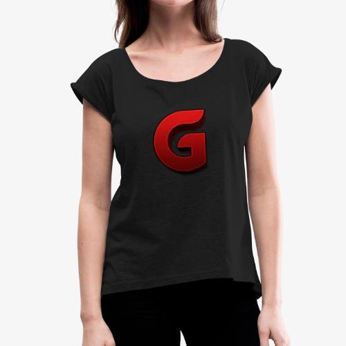 GermanLobbys Logo Neu - Frauen T-Shirt mit gerollten Ärmeln