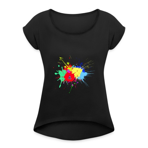 d13 - Women's T-Shirt with rolled up sleeves
