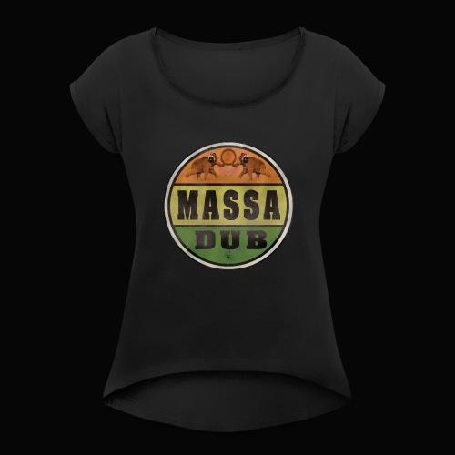 Logo de Massa Dub - T-shirt à manches retroussées Femme