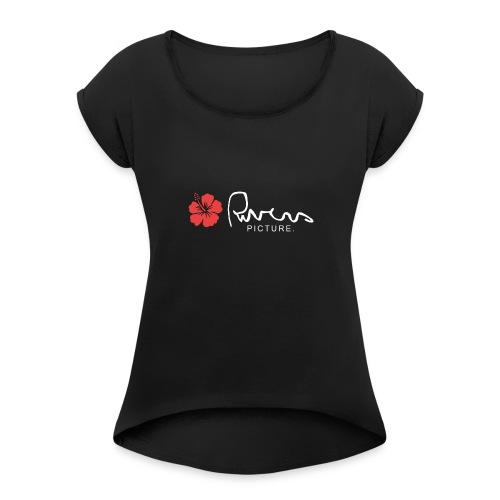 Rivers picture design 2 - T-shirt à manches retroussées Femme