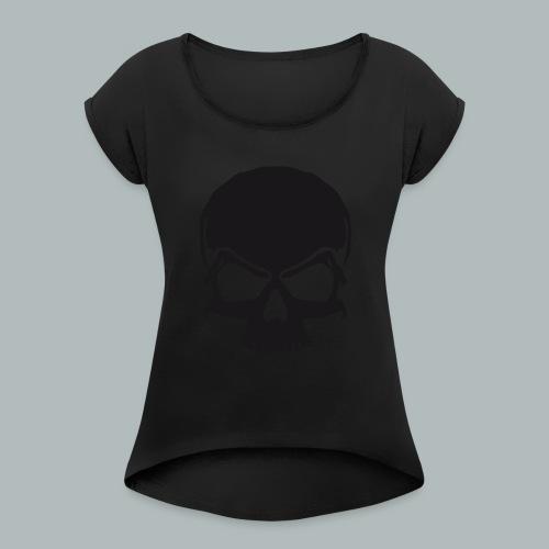 mmbikerlogo - Frauen T-Shirt mit gerollten Ärmeln