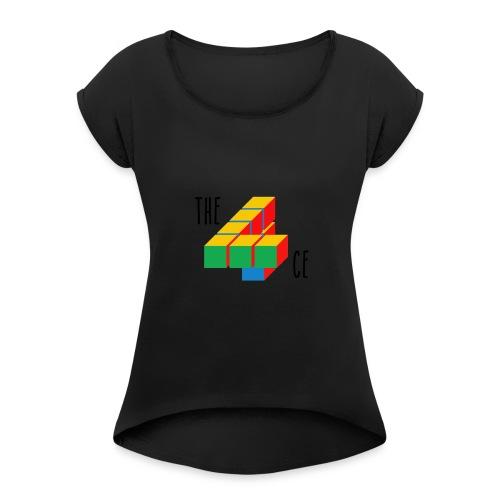 the4ce - Vrouwen T-shirt met opgerolde mouwen