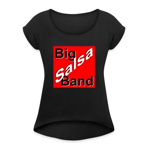 bsblogo groot - Vrouwen T-shirt met opgerolde mouwen