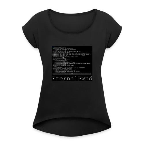 EternalBlue - Vrouwen T-shirt met opgerolde mouwen