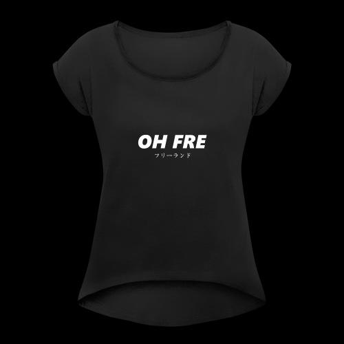 Oh Fre white - Maglietta da donna con risvolti