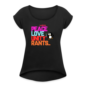We Are One Digital PLUR Tee - Women's T-shirt with rolled up sleeves