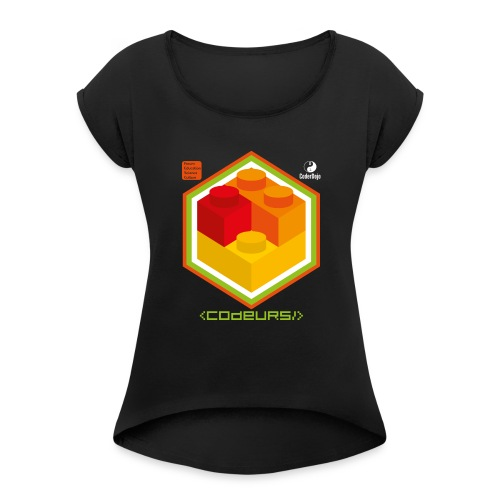 Esprit Brickodeurs - T-shirt à manches retroussées Femme