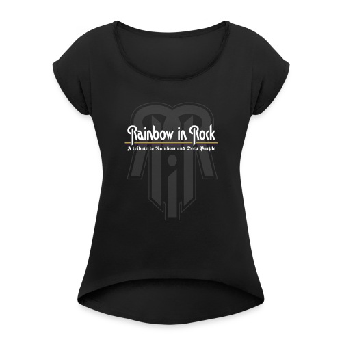 RIR LOGO GREY - Women's T-Shirt with rolled up sleeves