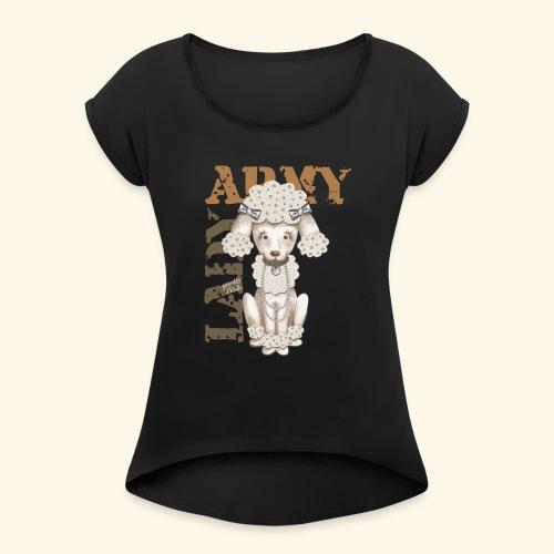 Army Dog - Camiseta con manga enrollada mujer