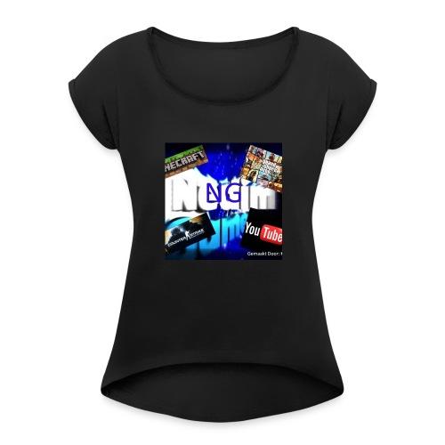 {NGNL} Shop - Vrouwen T-shirt met opgerolde mouwen