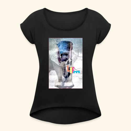 LIFE - T-shirt à manches retroussées Femme