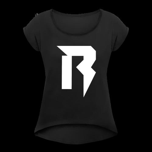Reverse White - Frauen T-Shirt mit gerollten Ärmeln