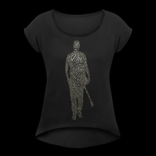 sascha - Frauen T-Shirt mit gerollten Ärmeln