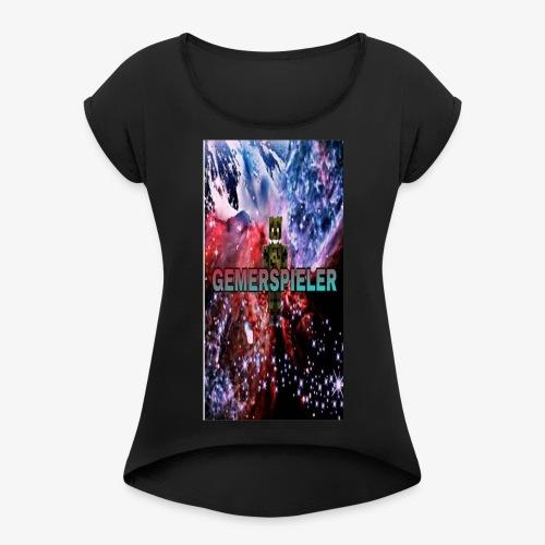 Gemerspieler Design - Frauen T-Shirt mit gerollten Ärmeln
