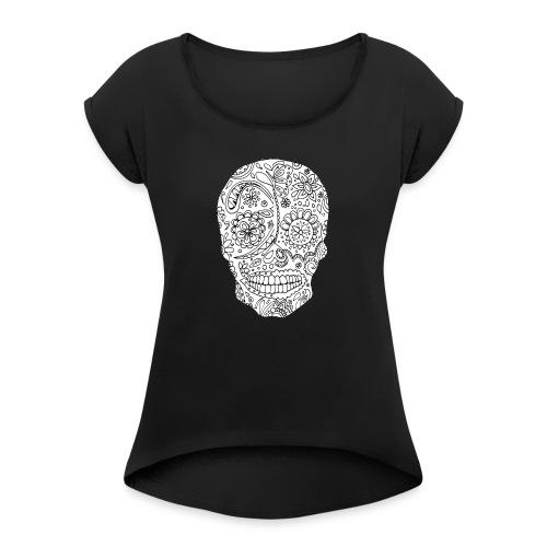 Sugar Skull - T-shirt à manches retroussées Femme