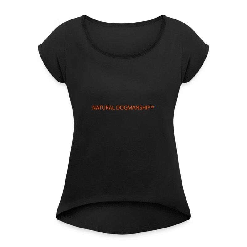 ND Schluesselband - Frauen T-Shirt mit gerollten Ärmeln