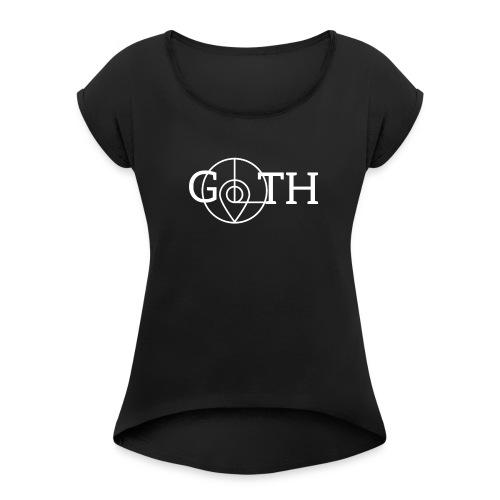 leipglo shop goth - Frauen T-Shirt mit gerollten Ärmeln