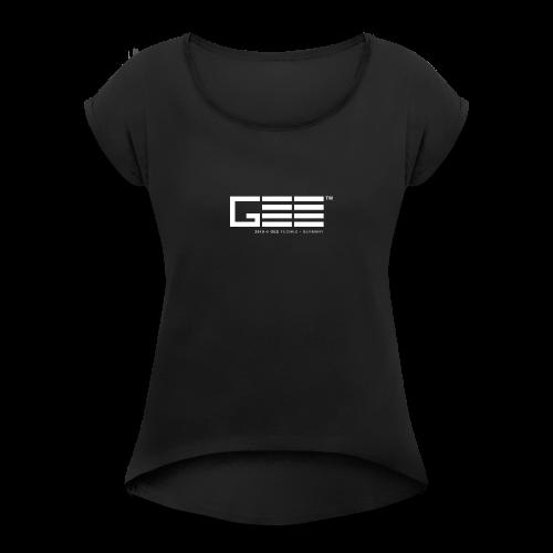 GEE™ Logo - 2018 - Frauen T-Shirt mit gerollten Ärmeln