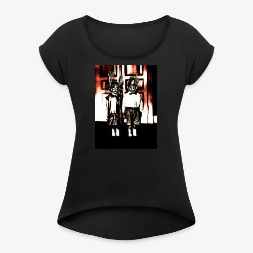 wild youth - Frauen T-Shirt mit gerollten Ärmeln
