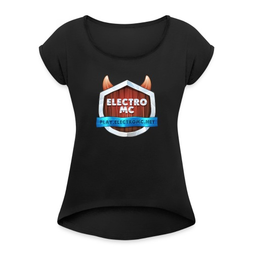 ElectroMC Logo - Vrouwen T-shirt met opgerolde mouwen