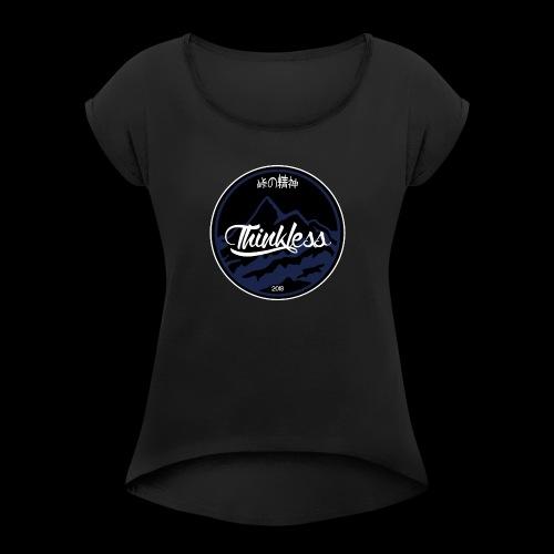 THINKLESS LOGO - T-shirt à manches retroussées Femme
