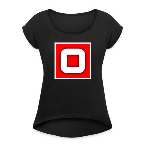 Vanlig Logo (tonåring) - T-shirt med upprullade ärmar dam