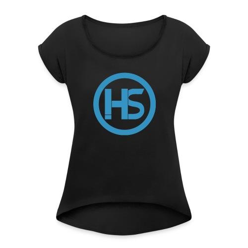 Hack stream Studio Logga - T-shirt med upprullade ärmar dam
