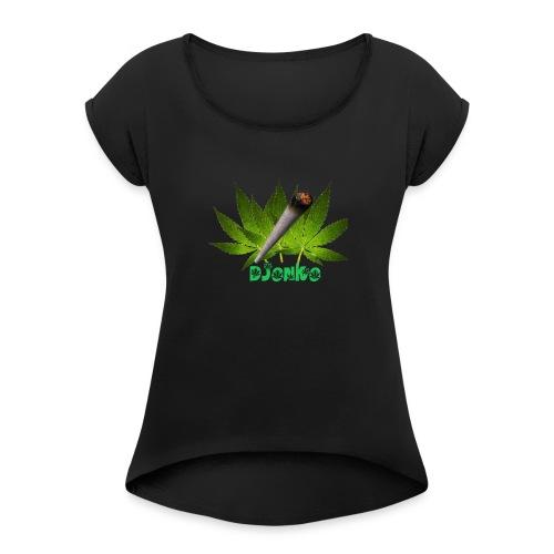 Djonko - Vrouwen T-shirt met opgerolde mouwen
