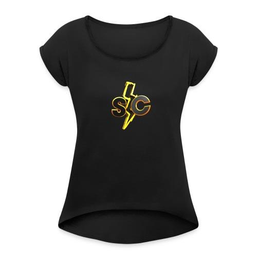 SkyCatan Appereal! Limited edition dank! - T-skjorte med rulleermer for kvinner