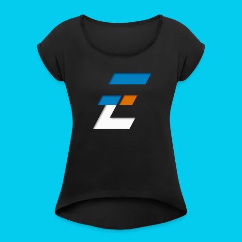 Electronic-series - T-shirt à manches retroussées Femme