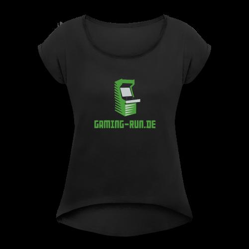 Gaming-Run.de - Frauen T-Shirt mit gerollten Ärmeln